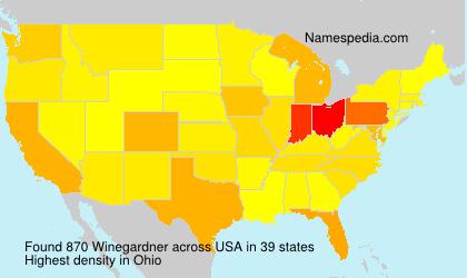 Familiennamen Winegardner - USA