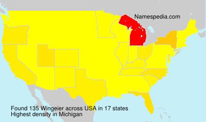 Surname Wingeier in USA