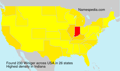 Surname Winiger in USA