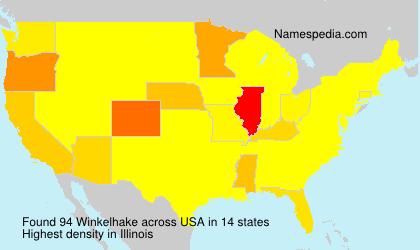 Surname Winkelhake in USA