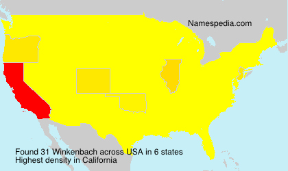 Surname Winkenbach in USA