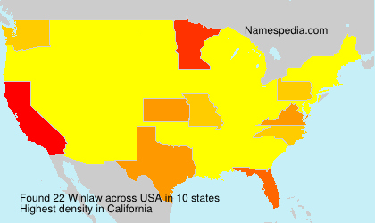 Surname Winlaw in USA