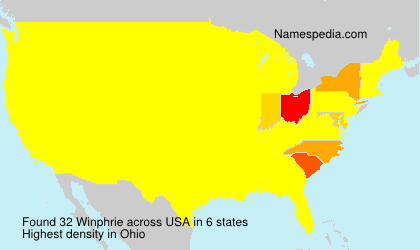 Surname Winphrie in USA