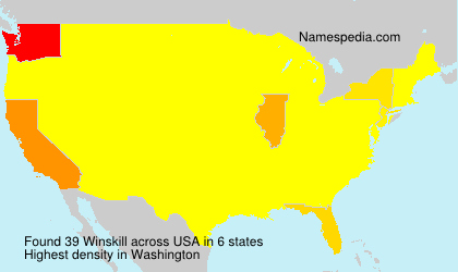 Surname Winskill in USA