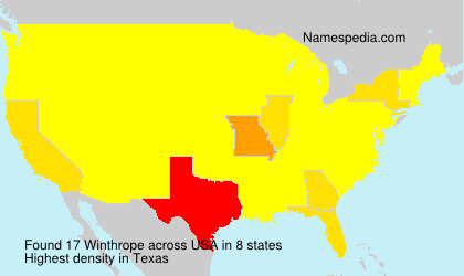 Surname Winthrope in USA