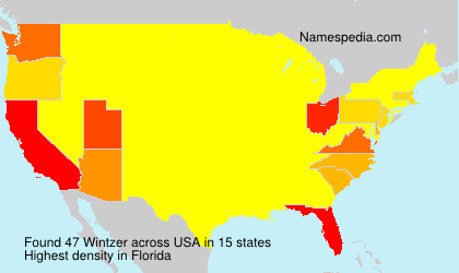 Surname Wintzer in USA