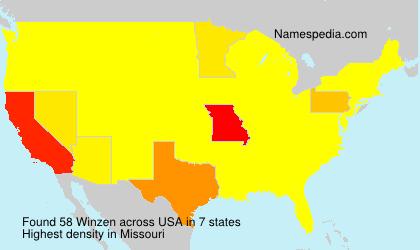 Surname Winzen in USA