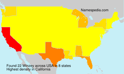 Surname Winzey in USA