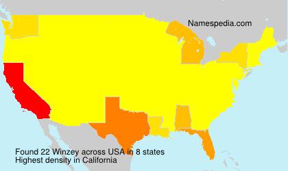 Familiennamen Winzey - USA