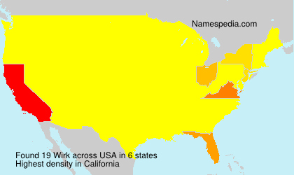 Surname Wirk in USA