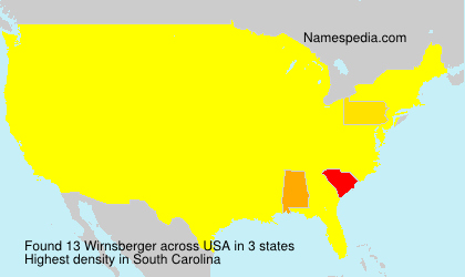Surname Wirnsberger in USA