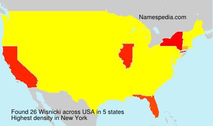 Familiennamen Wisnicki - USA