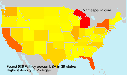 Surname Withey in USA