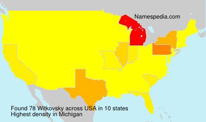 Familiennamen Witkovsky - USA
