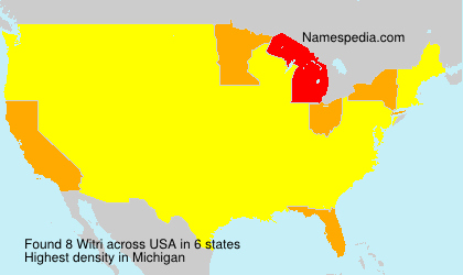 Surname Witri in USA