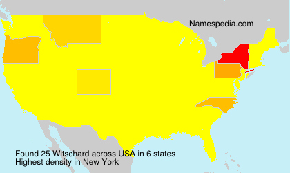 Surname Witschard in USA