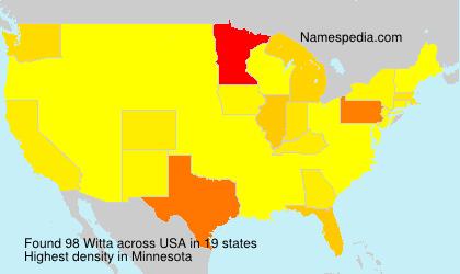 Familiennamen Witta - USA