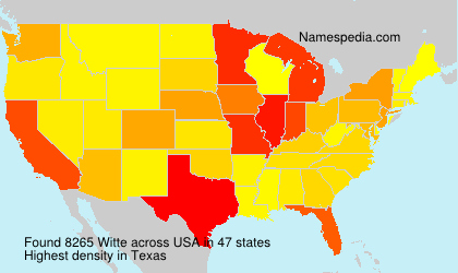 Surname Witte in USA