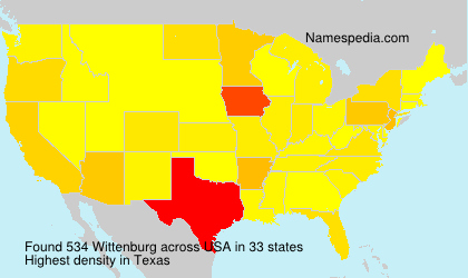 Surname Wittenburg in USA