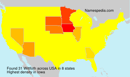Surname Wittfoth in USA