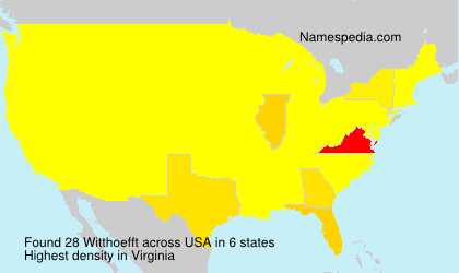Surname Witthoefft in USA