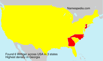 Surname Wittiger in USA
