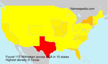 Surname Wittneben in USA