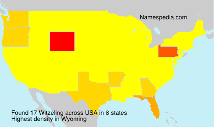 Surname Witzeling in USA