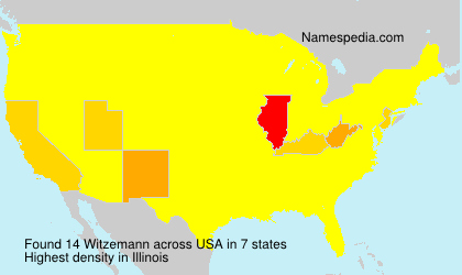 Surname Witzemann in USA
