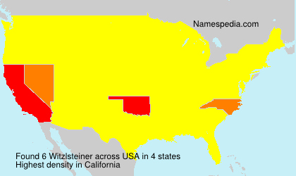 Surname Witzlsteiner in USA