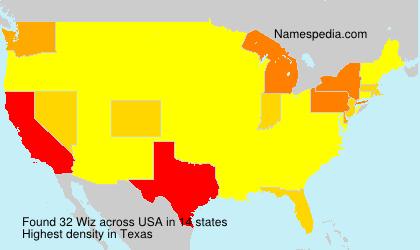 Familiennamen Wiz - USA