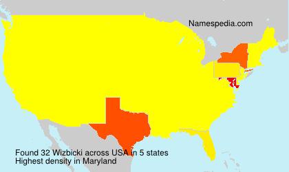 Surname Wizbicki in USA