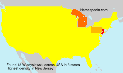 Surname Wladyslawski in USA