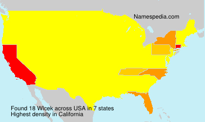 Surname Wlcek in USA