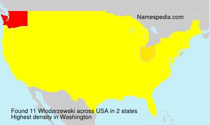 Surname Wlodarzewski in USA