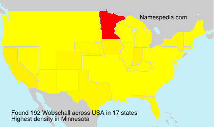Surname Wobschall in USA