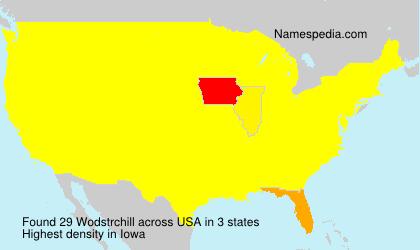 Surname Wodstrchill in USA