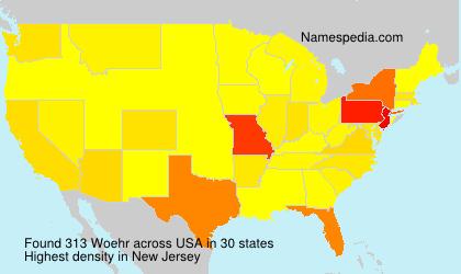 Familiennamen Woehr - USA