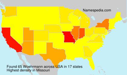 Familiennamen Woehrmann - USA