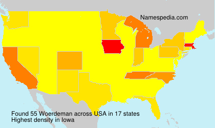 Surname Woerdeman in USA