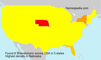Surname Woerdemann in USA
