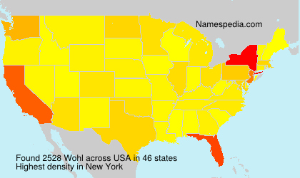 Surname Wohl in USA