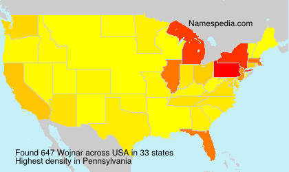 Surname Wojnar in USA