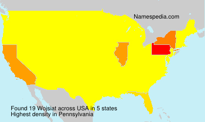 Surname Wojsiat in USA