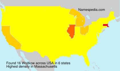 Surname Wojtkow in USA