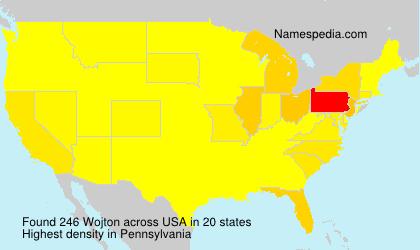 Surname Wojton in USA