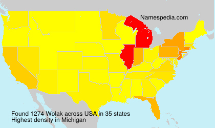 Surname Wolak in USA