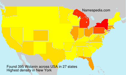 Surname Wolanin in USA