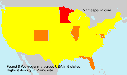Surname Woldegerima in USA