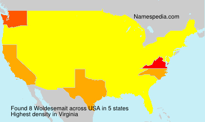 Surname Woldesemait in USA